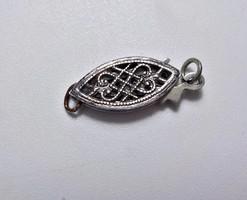 925-ös ezüst filigrán díszkapocs nyakláncra vagy karkötőre.