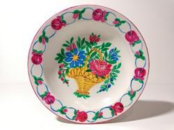 Kézzel festett fali tányér