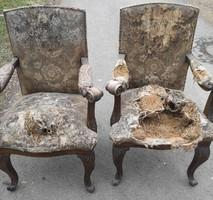 Különleges barokk fotelokl 3 db