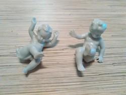 Régi Német Unterweisbach porcelán puttó kisfiúk