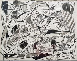 Klie Zoltán 40 x 50 cm tus, papír