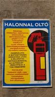 Régi retro ipari halonnal oltó karton plakát