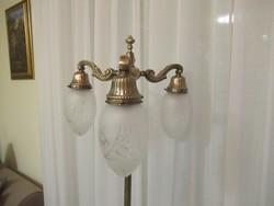 Réz állólámpa csiszolt burákkal