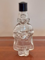 Régi kölnis üveg női alakos vintage parfümös
