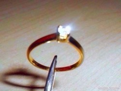 Mest. Gyémánt k.töltött Arany GF. Gyűrű  8-as