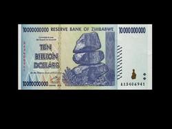 UNC - ZIMBABWE - 10 MILLIÁRD DOLLÁR - 2008