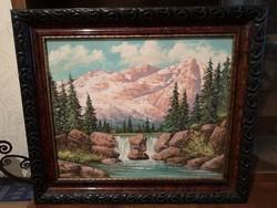 Olaj, vászon, szignózott festmény 1Ft-ról