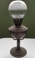 LAMPART No4936 MADE IN HUNGARY petróleum lámpa asztali, falra akasztható burával kanóc szer hiányzik