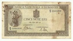 500 lei 1941 Románia 2.