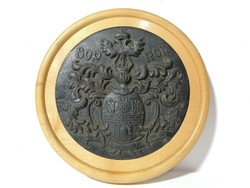 Sopron város kerámia címere fa keretben 22 cm (196)