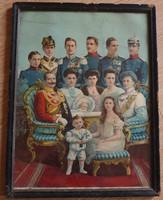 Német királyi család üvegezett kép