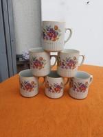 Zsolnay porcelán régi  bögre 6db egyben