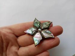 B41 - Fémjelzett 925 ezüst kitűző bross