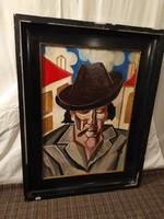 1,-Ft Scheiber Hugó portré festmény!