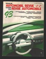 1993 Automobil Revue - Svájci autókatalógus - hiánytalan. 588 oldal