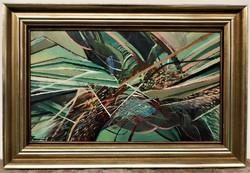 Turcsán Miklós (1944 - ) Turul c. festménye 82x55cm EREDETI GARANCIÁVAL !