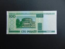 100 rubel 2000 Fehéroroszország Hajtatlan bankjegy
