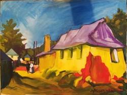 Nagybányai festő: Nagybányai utcarészlet