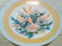 Kézzel festett nagyméretű kerámia fali dísz tányér