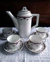 Zsolnay art deco porcelán kávés készlet
