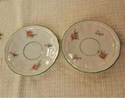Antik Eichwald porcelán alátét tányér, szép 2 db, 300 Ft/db