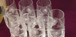 Kristály pezsgős pohárkészlet 6 db