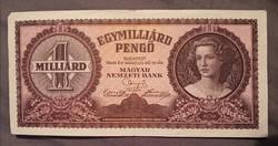 Szép Egymilliárd Pengő 1946. bankjegy