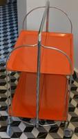 Retro szocreál- szovjet különleges színű, lapra összecsukható, kompakt zsúrkocsi