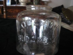 Ruszlis üveg   ÓCEÁN - Budapest   felirattal    20 x 19 cm
