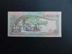 10 rupia 1998 Maldív -Szigetek Hajtatlan bankjegy