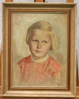 Leányka portré 1956