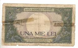 1000 lei 1943 Románia