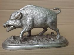 Eredeti Ganz és Tsa Vasöntöde i öntöttvas vaddisznó szobor vas öntvény múzeum i gyűjteményből