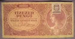 Szép Tízezer Pengő 1945.bankjegy