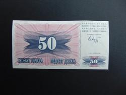 50 dinár 1992 Bosznia - Hercegovina 1992 Hajtatlan bankjegy