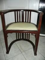 Eredeti antik nagyon ritka szecessziós keményfa íróasztal szék / íróasztal fotel felújítva