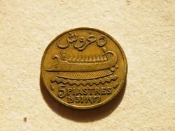 KK522 1931 Libanon 5 piastres