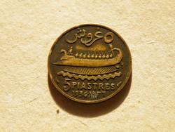 KK519 1936 Libanon 5 piastres