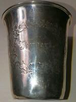 12 latos ezüst keresztelő pohár