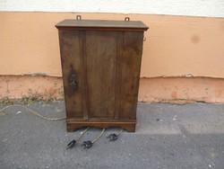 4983 Antik fali jelzőszekrény műszaki régiség