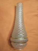 Antik petróleumlámpa uveg