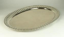 0W025 Régi ezüst tálca pecsenyés tál 965g