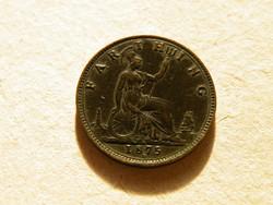 KK525  1875 H Anglia penny Vikória királyné RITKA