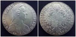 Ausztria Mária Terézia ezüst 1 Tallér utánveret 1780 SF / id 267/