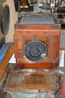 Régi fa fényképezőgép