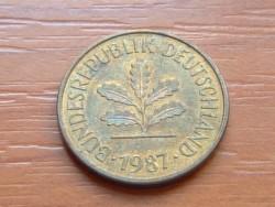 NÉMET NSZK 5 PFENNIG 1987  J