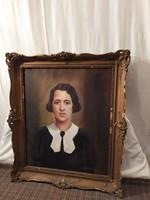 Gyönyörű női portré festmény!