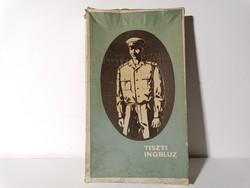 Nagyon ritka katonai ruházat tiszti ingblúz doboza 50-es évek (231)