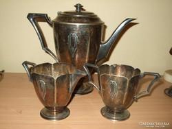 Neobarokk stílusú, kávés vagy teás kiegészítő szervírozó készlet