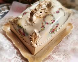 Antik fajansz sajttartó